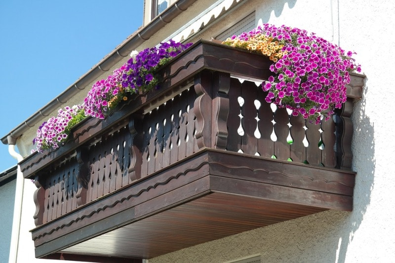 Balcony Flower Garden.
